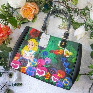 Loungefly Alice In Wonderland Garden Satchel Nwt